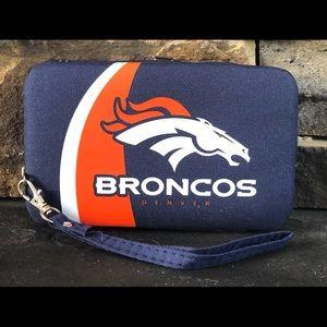Denver Broncos Organizer Wristlet Phone Holder